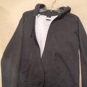 grey fleece nike jacket